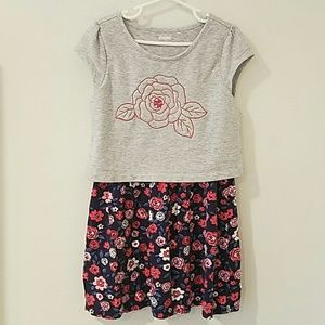 GYMBOREE Floral Embroidered Dress sz 7
